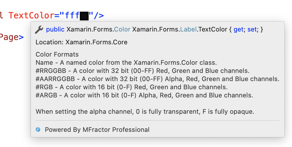 Color Format Tooltips=